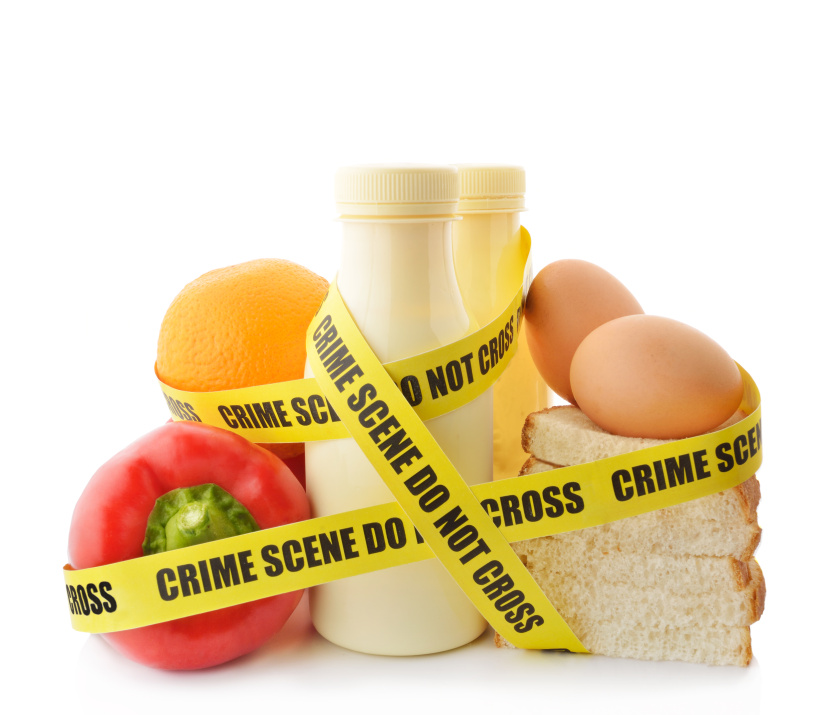 Food products wrapped with crime scene tape due to HACCP non-compliance